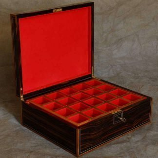 Cufflink Box in Macassar Ebony
