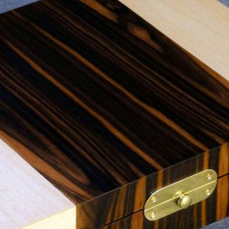 Cufflink Box in Macassar Ebony and Maple