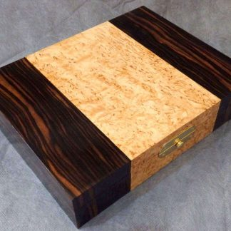 Cufflink Box in Macassar Ebony and Masur Birch