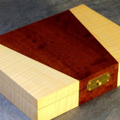 Cufflink Box in Pomelle Sapele and Rippled Sycamore