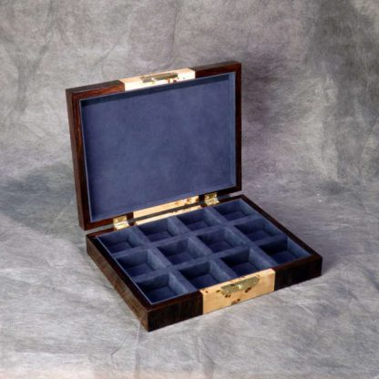 Cufflink Box in Poplar burr and Amaranth
