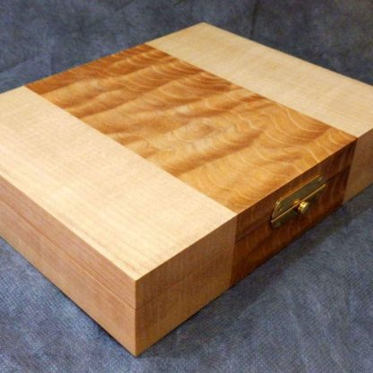 Cufflink Box in Quilted Maple and Maple