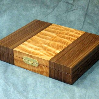 Cufflink Box in Quilted Maple and Walnut