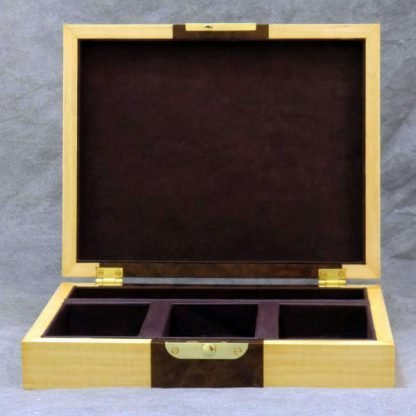 Cufflink Box in Walnut Burr and Sycamore