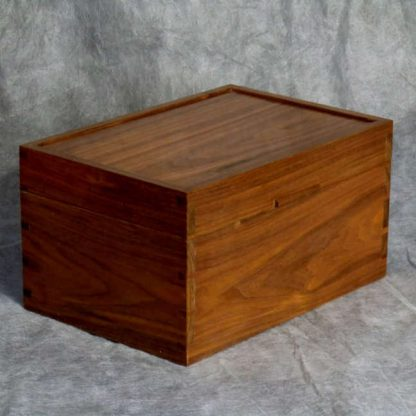 Desk Box in American Black Walnut and Maple