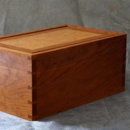 Desk Box in Cherry and Birds Eye Maple