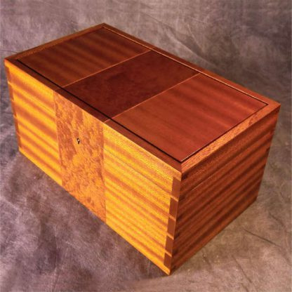 Desk Box in Sapele and Figured Pomelle