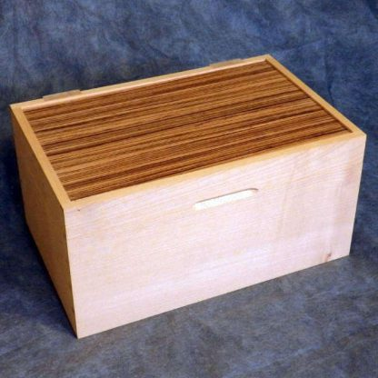 Desk Box in Sycamore and Zebrano