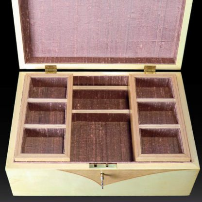 Jewellery Box in Maple and Quilted Maple