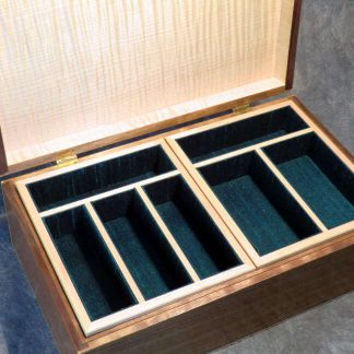 Jewellery Box in Walnut and Black Walnut Burr