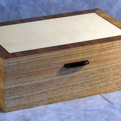 Memory Box in Walnut and Fiddleback Sycamore