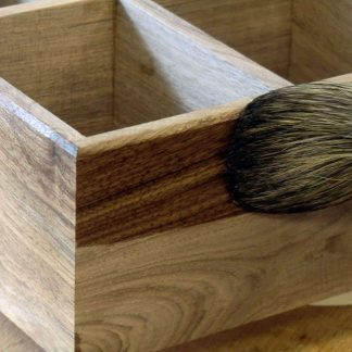 Using Shellac Mop to Polish Walnut Trays