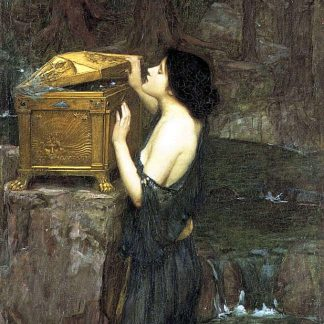 Pandora Explores Boxes - John William Waterhouse
