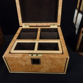 Maple Burr Watch Box at Gentlemans Grooming Show