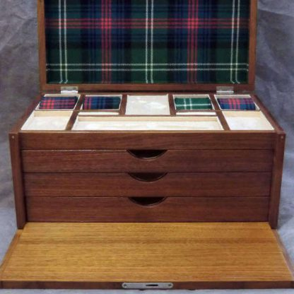 Valet Box in American Black Walnut Burr with Sutherland Tartan