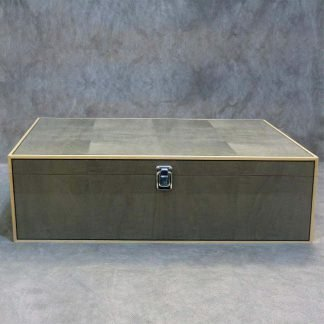 Valet Box in Light Grey Dyed Figured Sycamore