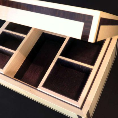 Valet Box in Sycamore and Macassar Ebony
