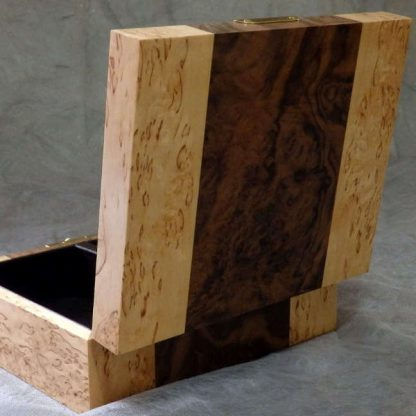 Valet Box in Walnut Burr and Masur Birch