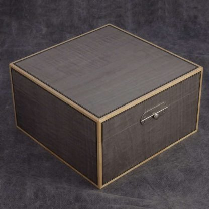 Watch Box in Light Grey Dyed Figured Sycamore