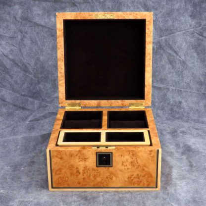 Watch Box in Maple Burr and Smoked Chestnut