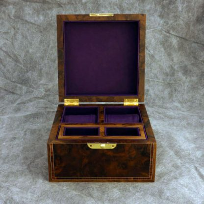 Watch Box in Walnut Burr and Kingwood