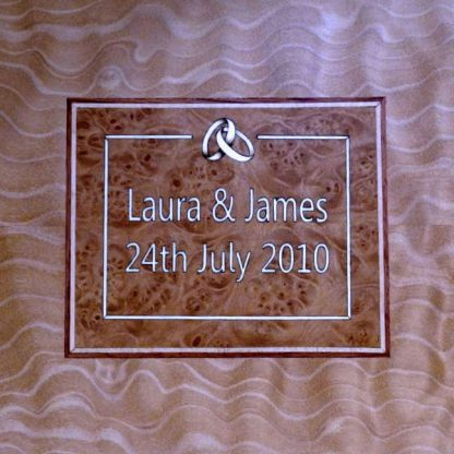 Wedding Anniversary Box in Quilted Maple